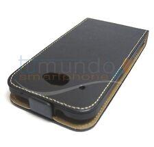 COVER di Pelle PREMIUM NERA ULTRA-SOTTILE per HTC DESIRE 601 CUOIO in SPAGNA