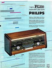 PUBLICITE ADVERTISING  1963   PHILIPS   radio ligne PLANO