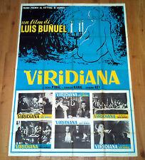 VIRIDIANA manifesto poster affiche Luis Bunuel Silvia Pinal Fernando Rey 1961