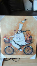 Loxton ART270 Canvas Print with Back Mounted Frame - Happy Chef 500 by 600