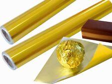 Goldene Aluminiumfolie extra stark 20µm Rolle 40cmx45 lfm Alu Einwickelfolie