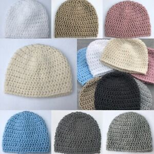 Handmade crochet baby hats many sizes and colours!