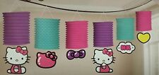 Rare Hello Kitty Paper Lantern Garland Import Sanrio Print New