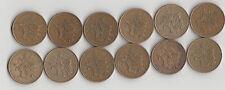 12 Pièces 10 Francs Mathieu de 1975 a 1980