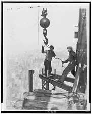 Iron Workers Straddle Steel Girders,Empire State Building,1931,New YOrk
