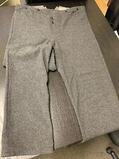 """Grey Wool Western Pants - 38"""" W / 34"""" Insm. Civil War, 19th century Re-enacting"""