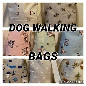Dog Walking Bag, Crossbody Handmade Sewing Pets