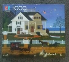 Charles Wysocki America Pickwick Cottage Cape Cod Sea MB 1000 Pc Puzzle - 1991