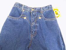 New Vtg Lawman Western Blue Jeans OLYMPIA Denim Slim Fit Boot Cut Jr 9 26X36