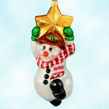 "Radko Macy's ""Swing On A Star"" Little Gem Ornament 00-504-0 Snowman Mib"