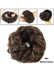 Medium Brown Messy Bun Hair Piece Scrunchie Updo Chignon Hair Extensions 45g