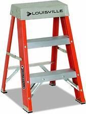 Fiberglass Step Ladder Heavy Duty Painting Working Step Stool Remodel Reaching