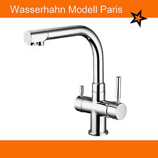 3 Wege Wasserarmatur Modell Paris. Wasserhahn auch für Osmoseanlagen geeignet.
