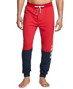 Tommy Hilfiger Sleepwear Men's Mahogany Modern Essential Colorblock Jogger Pants