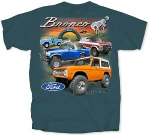 """Ford Bronco """"Hit The Off Road"""" T-Shirt - 1966-1999 Ships WORLDWIDE & FREE to USA"""
