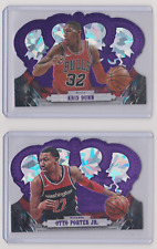 2017-18 Panini Crown Royale Otto Porter Jr Kris Dunn /25 Base Lot Die-Cut Insert