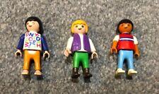 3 x Playmobil Children Kids Figures Good Condition