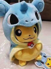 AUTHENTIC Pokemon Center Singapore Pikachu Lapras Poncho EXCLUSIVE PLUSH TOY