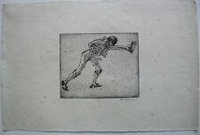 Willi Geiger (1878-1971) Torero mit Trophäe Orig Radierung 1912 signiert