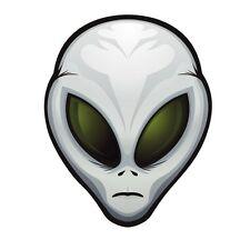Alien tête OVNI AUTOCOLLANT graphique vinyle étiquette V1