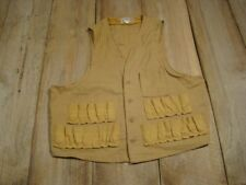 Vintage Sears Hunting Vest-40's-Canvas-Gre at Condition-Fishing-M-L