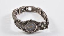 a49d41- Silber 925er Damen Armbanduhr mit Markasiten, Quartz