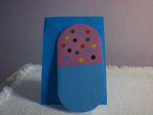 Carol's Rose Garden-  Get Well - Pink w/dots & Blue Bandaid