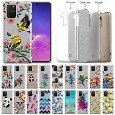 "For Samsung Galaxy S10 Lite 6.7"" 2020 Silver Glitter Clear TPU Soft Cover Case"