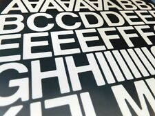 """2""""  (50mm) WHITE SELF ADHESIVE VINYL LETTERS AND NUMBERS SIGNS DIY (125 + units)"""