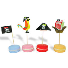 20pcs Topers Pirate Theme Unique Designs Cakes Inserts Card For Party Supplies Y