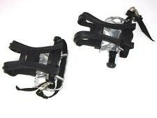 Exercise Bike Steel Pedals With Toe Clips And Straps