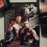 Uriah Faber WEC UFC Signed 8x10 MMA COA Autographed Champ Bellator
