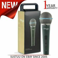 Stagg Professional Cardioid Dynamic Microphone|Vocal & Instrumental Use|Black
