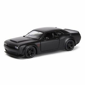 """Dodge Challenger SRT Demon, metal model, Matt black, 12см/ 5"""""""
