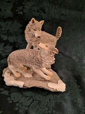 "1995 Westland Gray Wolf Pack ""Soul Mates"" Figurine Statue Resin"