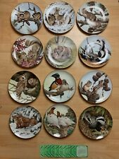 More details for vintage 1982 the collectors stidio the forest year porcelain plate collection 12