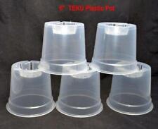 14 x  CLEAR PLASTIC ORCHID POTS    ORCHID PLANT POTS  - 7 x 15cm + 7 x 12cm = 14