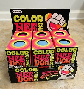 Schylling Color Changing Nee Doh Squeeze Ball Case Of 12 -pink,yellow, Blue