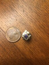 vintage  Free mason Masonic Shriner lapel pin blue enamal with G compass square