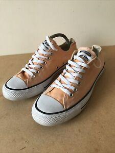 Ladies Peach/Light orange  Converse Lace Up Shoes Pumps Size Uk 8