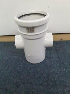 110mm Flo Plast Single Socket Inspection Straight Connector