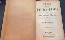 Lutherbibel 1878 Altes + Neues Testament Widmung/Wappen von Münchhausen Rarität