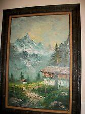 ALFREDO PALMERO-Spanish Realist-Original Signed Oil on canvas landscape painting