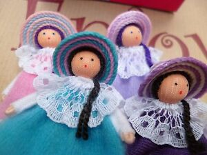 SALE Personitas Fair Trade 4 Fabric Worry Dolls Boxed Home Gift Multi CLEARANCE