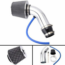 Set 3'' Car Cold Air Intake System Turbo Induction Pipe Tube Filter Silver Alloy