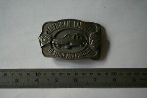 American Lawmen commemorative design solid metal belt buckle