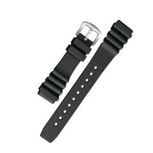 BOMBFROG Silikon-Uhrenarmband Taucher   24mm schwarz mit Edelstahl Schliesse