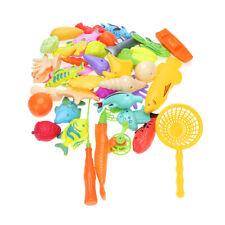 40pcs/set Preschool Kids Sea Toys Pretend Play Magnetic Fishing Toy Rod Net Set