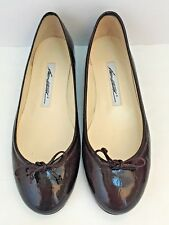 BRIAN ATWOOD $495 burgundy patent leather ballet flats shoes size 38.5 WORN ONCE