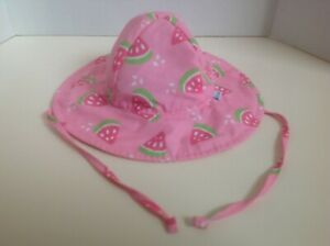 Infant I-PLAY Pink Watermelon Sun Hat Size 0-6 Months UPF 50+ VGC Cute & Clean!